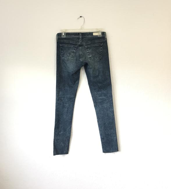 AG Adriano Goldschmied Tea Length The Legging Ankle 9 Years Infuse Ankle Skinny Jeans-Dark Rinse Image 1