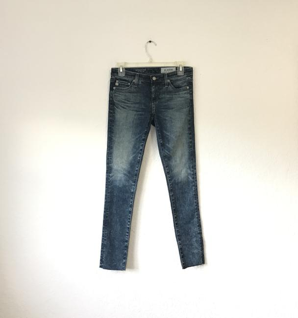 AG Adriano Goldschmied Tea Length The Legging Ankle 9 Years Infuse Ankle Skinny Jeans-Dark Rinse Image 2