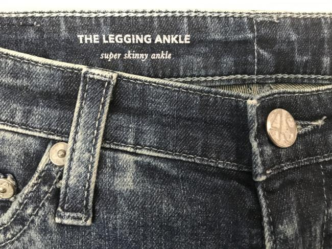 AG Adriano Goldschmied Tea Length The Legging Ankle 9 Years Infuse Ankle Skinny Jeans-Dark Rinse Image 4