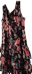 Black background featuring a floral pattern Maxi Dress by Laura Ashley
