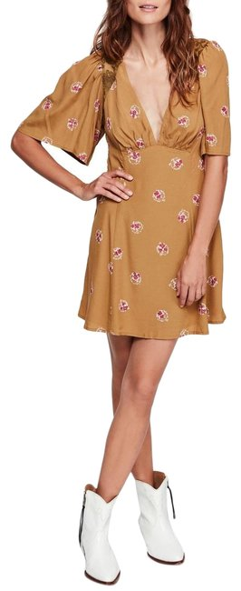 Preload https://img-static.tradesy.com/item/25565129/free-people-yellow-mustard-pink-new-mockingbird-floral-embroidered-lace-short-casual-dress-size-6-s-0-3-650-650.jpg