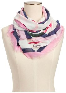 Talbots Talbots roses and hearts scarf