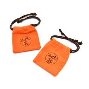 Hermès Hermes Orange Dust Bag For Small Items-Set of 2