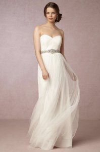 BHLDN Ivory Tulle Annabelle By Jenny Yoo Traditional Wedding Dress Size 6 (S)