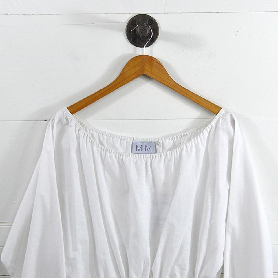 to buy great discount sale price reduced MLM White 'linen' Shoulder #131-187 Short Casual Dress Size 12 (L)