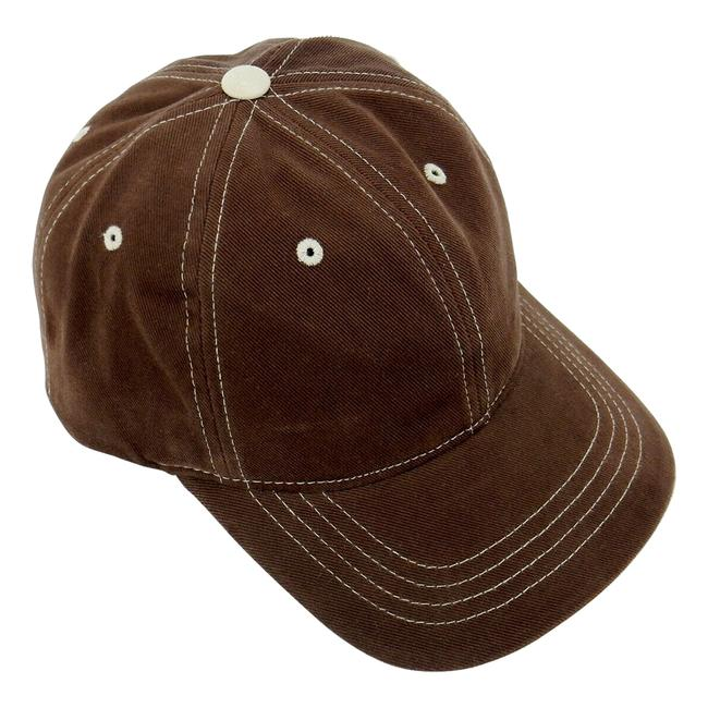 Item - Brown Baseball Cap 6-panel with Adjustable Headband Lot Of 2. Hat
