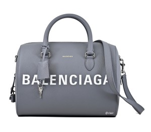 Balenciaga Leather Satchel in Grey
