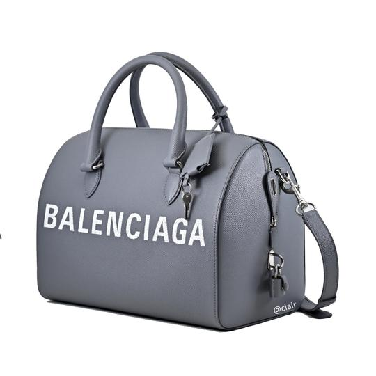 Balenciaga Leather Satchel in Grey Image 1