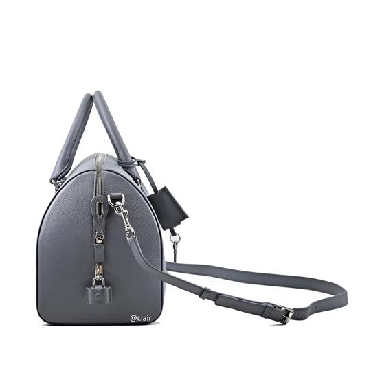 Balenciaga Leather Satchel in Grey Image 2