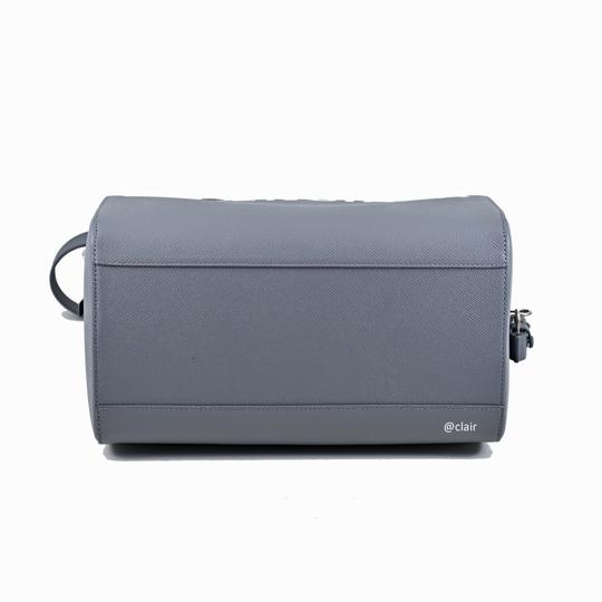 Balenciaga Leather Satchel in Grey Image 5