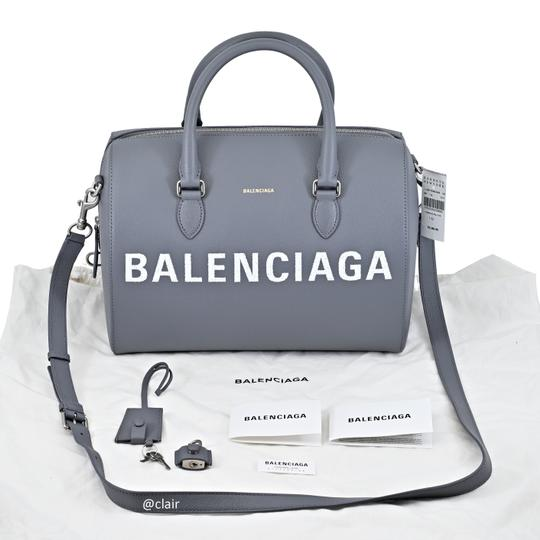 Balenciaga Leather Satchel in Grey Image 6