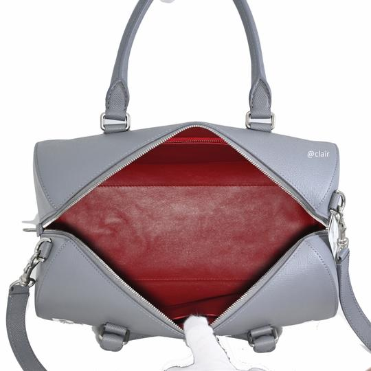 Balenciaga Leather Satchel in Grey Image 7