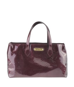 Louis Vuitton Patent Leather Satchel in Burgundy