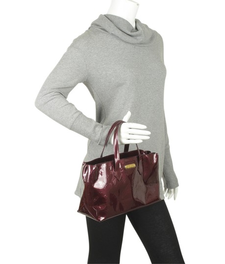 Louis Vuitton Patent Leather Satchel in Burgundy Image 1