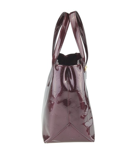 Louis Vuitton Patent Leather Satchel in Burgundy Image 2