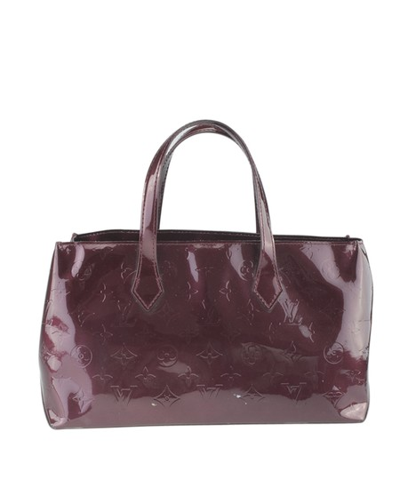 Louis Vuitton Patent Leather Satchel in Burgundy Image 4