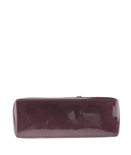 Louis Vuitton Patent Leather Satchel in Burgundy Image 5