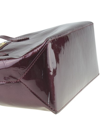 Louis Vuitton Patent Leather Satchel in Burgundy Image 6
