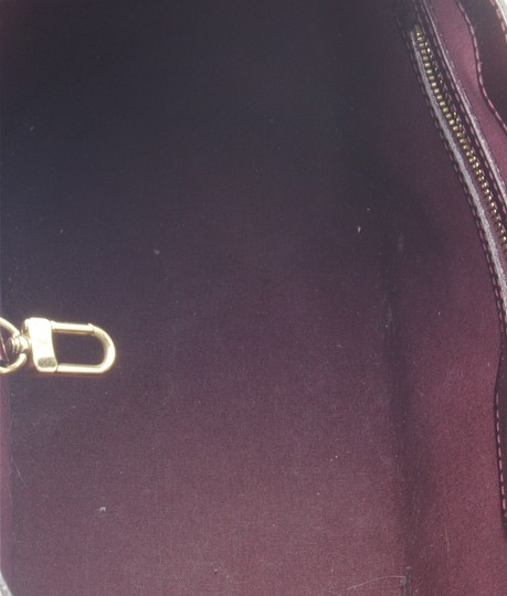 Louis Vuitton Patent Leather Satchel in Burgundy Image 8
