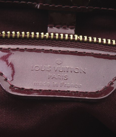 Louis Vuitton Patent Leather Satchel in Burgundy Image 9