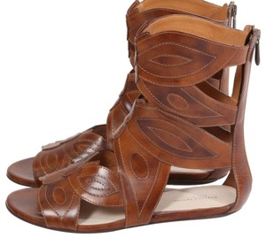 Bottega Veneta Gladiator Flat Brown Sandals