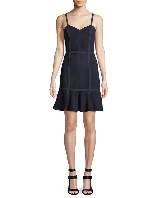 Preload https://img-static.tradesy.com/item/25565686/alice-olivia-navy-desmond-crochet-trim-fit-and-flare-leather-suede-short-night-out-dress-size-0-xs-0-0-650-650.jpg