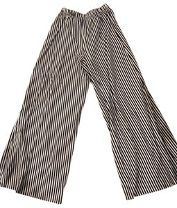MDS Stripes Wide Leg Pants navy and white