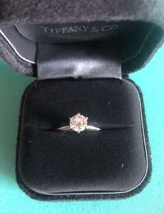 Tiffany & Co. Platinum Classic Setting Engagement Ring