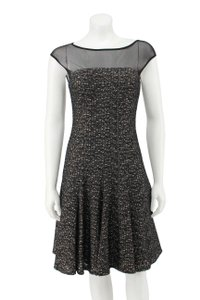 Maggy London Textured Lace Mesh Fit & Flare Dress