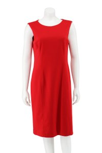Jones New York Ponte Knit Career Shift Stretchy Dress