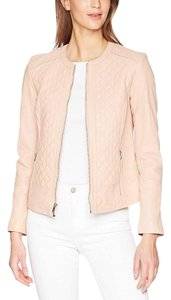 Cole Haan Blush Pink Leather Jacket