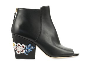 Tory Burch Embroiidered Black Boots