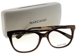 Guess By Marciano GM0268-048-53 Oval Women's Brown Frame Clear Lens Eyeglasses