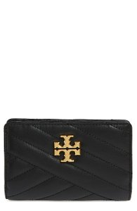 992bdb9c1f2 Tory Burch Black with Tag Kira Medium Quilted Leather Wallet