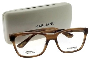 Guess By Marciano GM0258-062-54 Square Unisex Tortoise Frame Clear Lens Eyeglasses