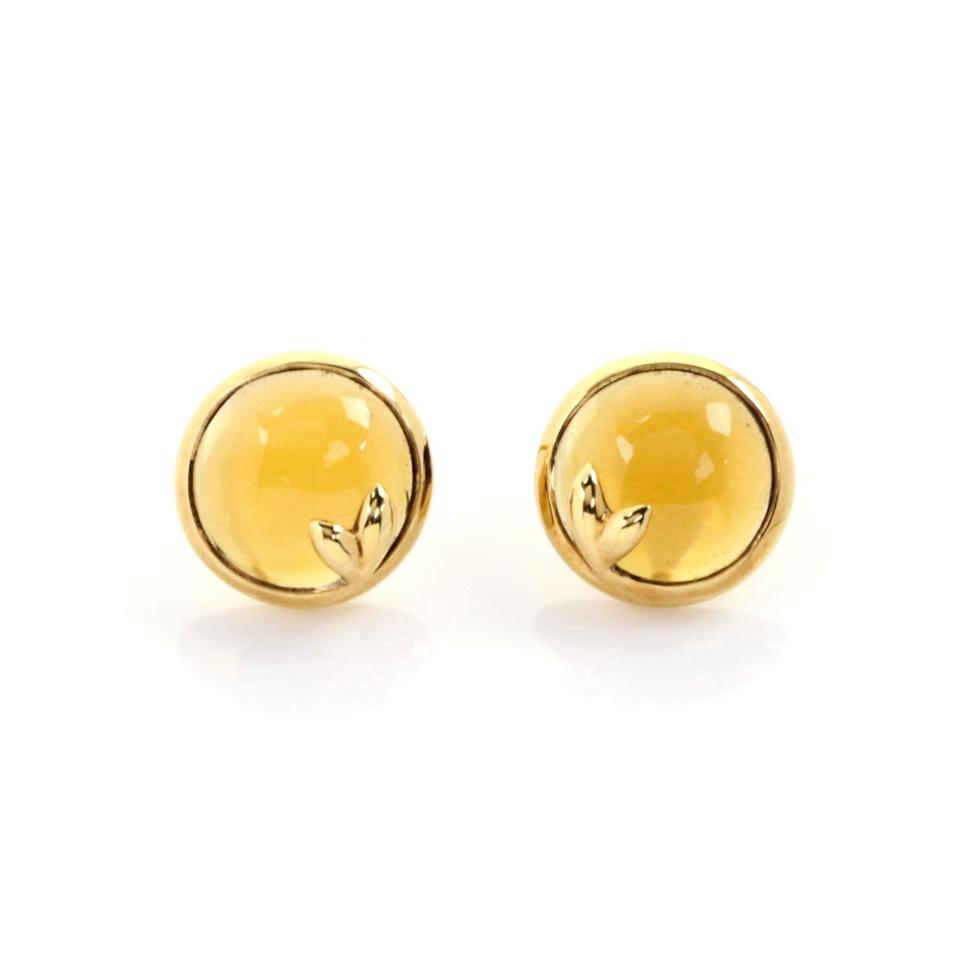be0a72f29 Tiffany & Co. Picasso Olive Leaf Citrine 18k Yellow Gold Stud Earrings  Image 0 ...