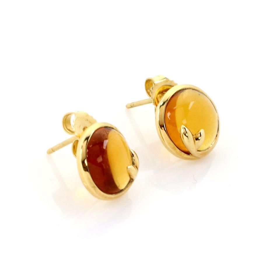 06647f7d6 Tiffany & Co. Picasso Olive Leaf Citrine 18k Yellow Gold Stud Earrings  Image 3. 1234