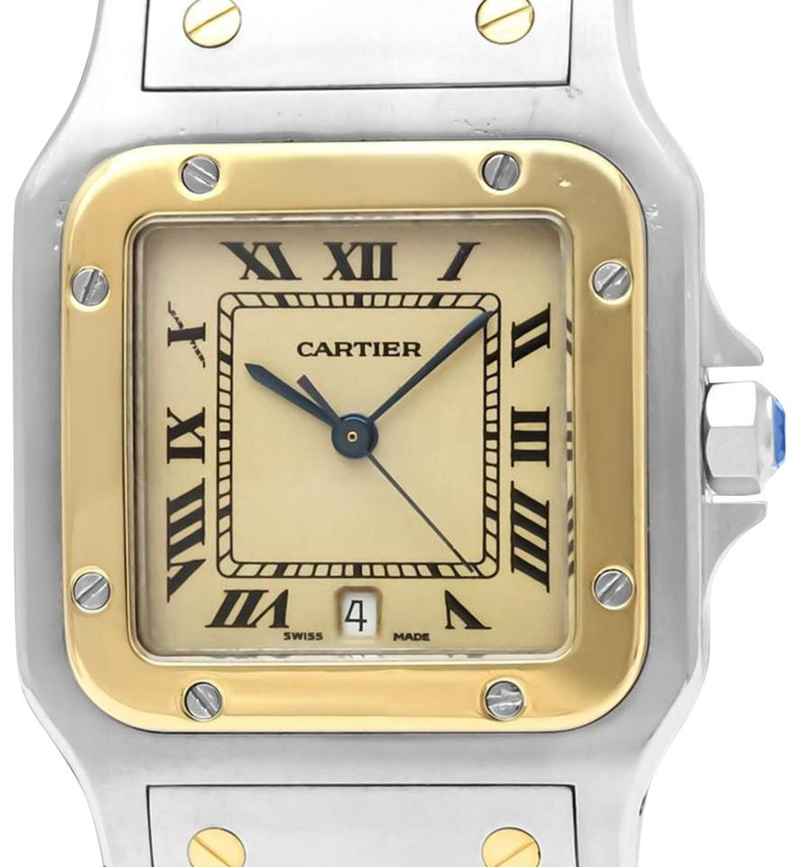 75a311ade57 Cartier Cartier Santos Galbee Mens Two-Tone Bracelet Watch with Date -  Stainle Image 0 ...