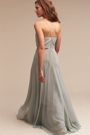 BHLDN Green- Morning Mist Chiffon Inesse Formal Bridesmaid/Mob Dress Size 4 (S) Image 1