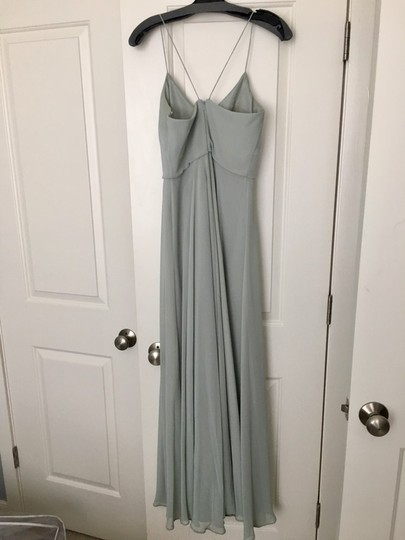 BHLDN Green- Morning Mist Chiffon Inesse Formal Bridesmaid/Mob Dress Size 4 (S) Image 4