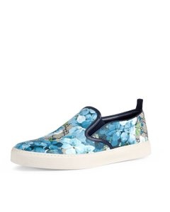 Gucci Sneaker Floral Slip On Bloom Casual Blue Athletic