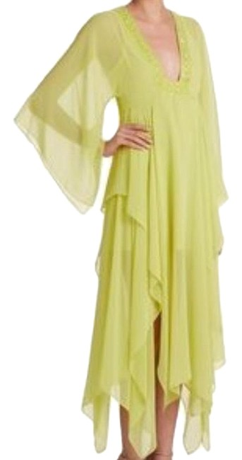 Item - Neon Yellow Chiffon Gown Long Casual Maxi Dress Size 8 (M)