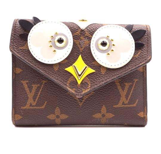 Louis Vuitton RARE Victorine Owl Lovely bird trifold Wallet bill coin case holder Image 0