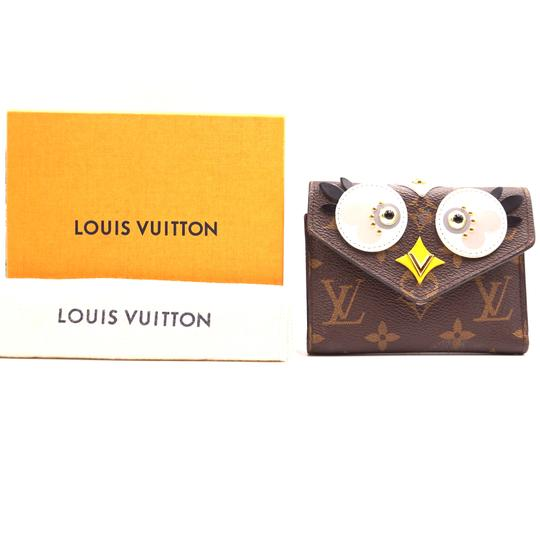 Louis Vuitton RARE Victorine Owl Lovely bird trifold Wallet bill coin case holder Image 1