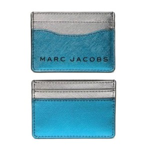 Marc Jacobs Metallic Leather Card Case