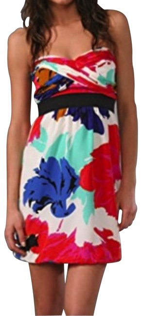 Preload https://img-static.tradesy.com/item/25567323/tibi-multicolor-dahlia-graphic-floral-strapless-silk-ruched-short-cocktail-dress-size-2-xs-0-1-650-650.jpg