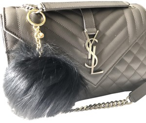 Michael Kors NEW Michael Kors RED Fox Fur Pom Pom Keychain FOB Bag Charm