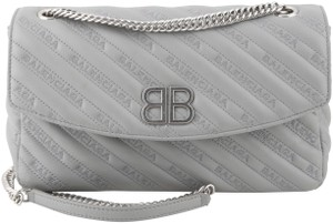 Balenciaga Embroidered Leather Shoulder Bag