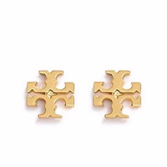 Tory Burch TORY BURCH * Logo Earrings * Gold Image 2