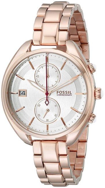 Item - Rose Gold Tone Ladies Land Racer Chronograph Silver Dial Steel Ch2977 Watch